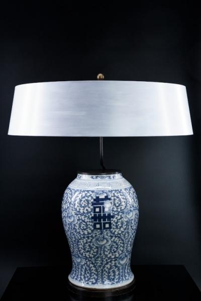 Chinesische Palastvase blau-weiß (Paar)