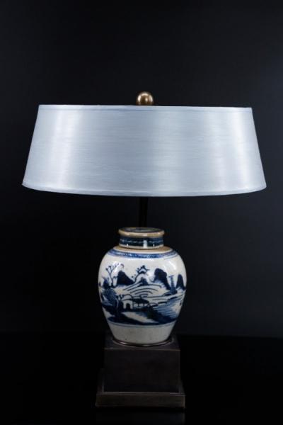 Chinavase blau-weiß klein