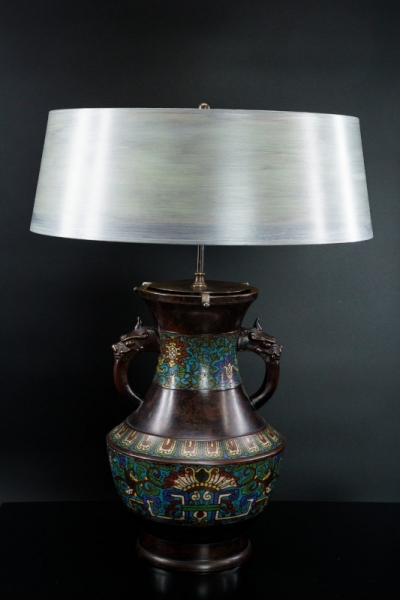 Chinesische Champlevé-Leuchte (Paar)