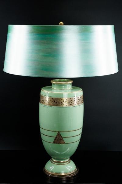 Keramik-Leuchte signiert
